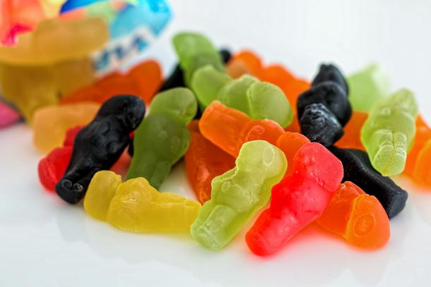 Gelatine in Gummibärchen